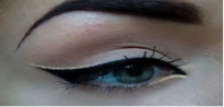 What the eyeliner looks like when applied.